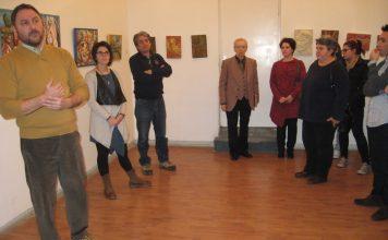 Sa otvaranja izložbe u Bečeju   Foto: Vlastimir Jankov