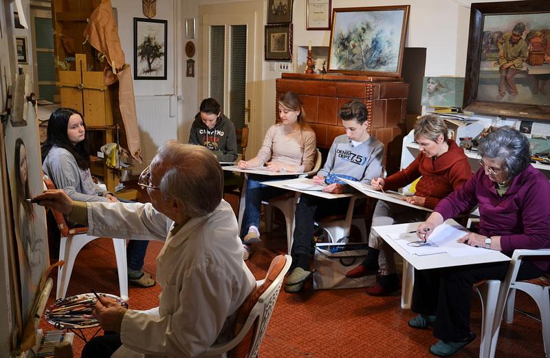 Subotom je profesorov atelje mesto okupljanja ljubitelja slikarstva - Foto V. Reljin