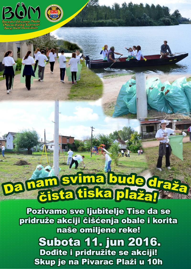Da nam svima bude draža čista tiska plaža | Plakat BUM