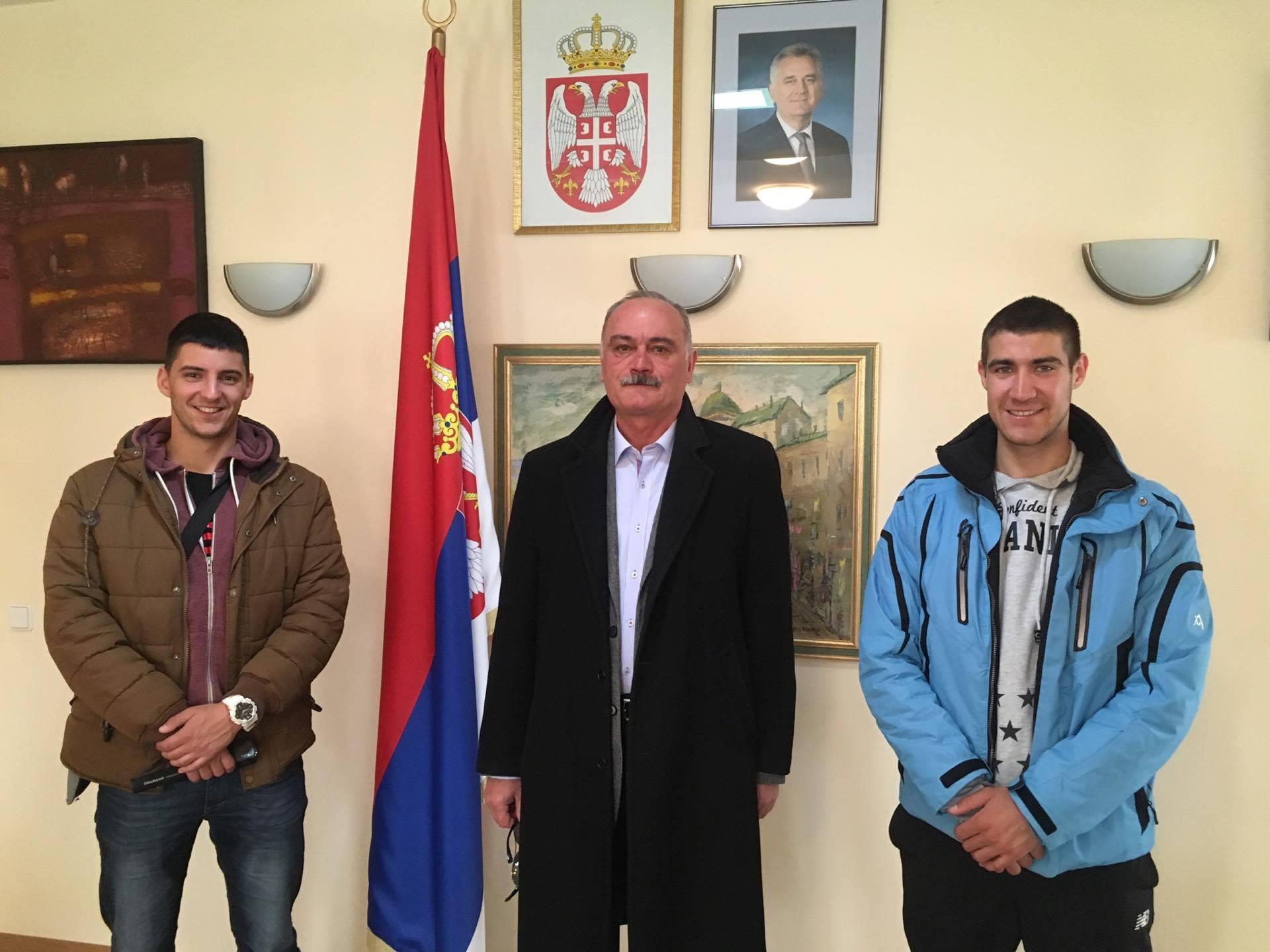 U poseti ambasadi u Belorusiji, sa ambasadorom Veljkom Kovačevićem