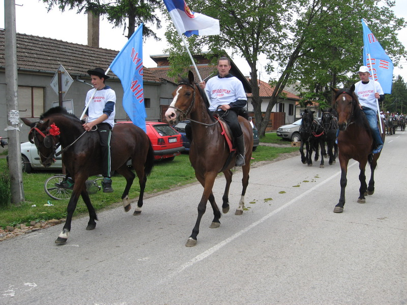 """Barjaktari """"Picoderskih dana"""" na konjima   Foto: Vlastimir Jankov"""