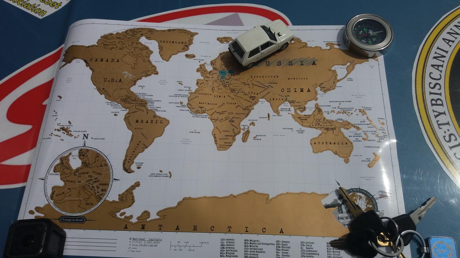 Naša mapa na kojoj pratimo države u kojima smo bili
