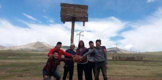 Košarkaški meč u sred Mongolije