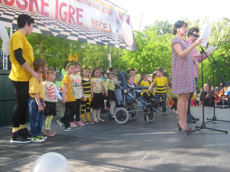 Predškolci su učestvovali i u svečanom otvaranju Majskih igara   Foto: Vlastimir Jankov