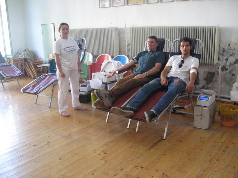 Sa jedne od akcija davanja krvi u Bečeju