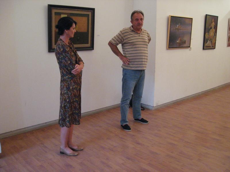 Gabriela Sel i Miloš Mandić na svečanom otvaranju izložbe | Foto: Vlastimir Jankov