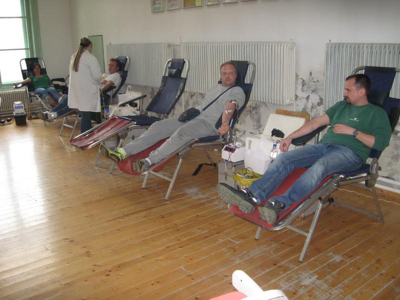 Jedna od ovogodišnjih akcija dobrovoljnog davanja krvi u Bečeju | Foto: Vlastimir Jankov