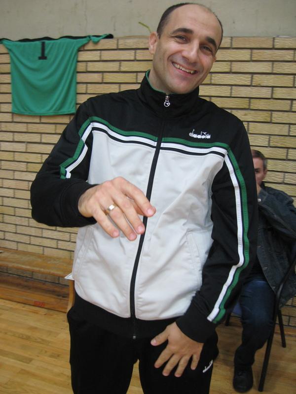 Zadovoljno lice trenera futsalera Bečeja Gorana Strajnića   Foto: Vlastimir Jankov