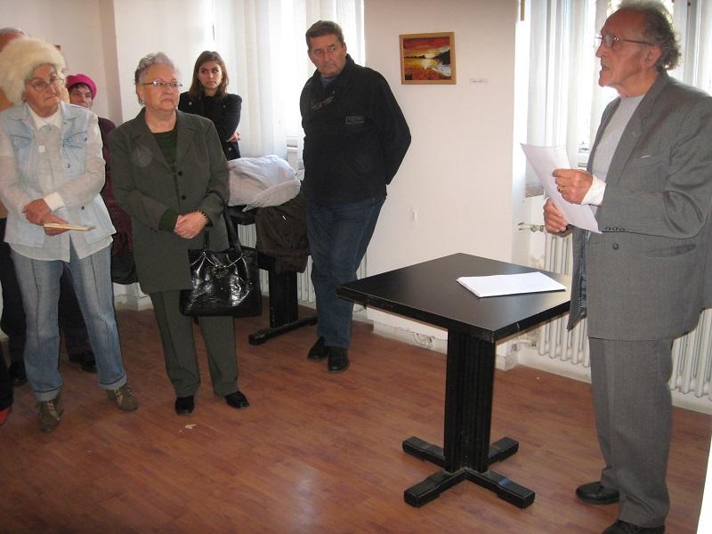 Milutin Ludajić je u ime organizatora pozdravio prisutne na otvaranju izložbe | Foto: Vlastimir Jankov