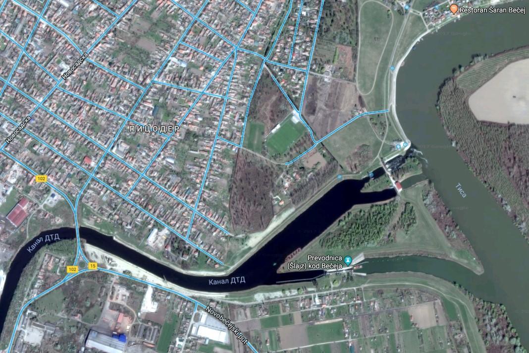 Ostrvo sa okolinom | Izvor: Google maps