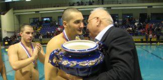 Sa dodeljivanja trofeja kupa Srbije u vaterpolu pre dve godine u Bečeju | Foto: Vlastimir Jankov