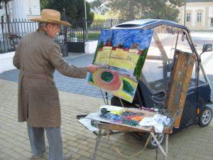 Maestro za štafelajem minule jeseni na trgu   Foto: Vlastimir Jankov
