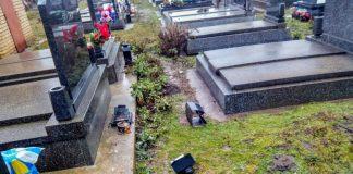 Vandalizam na groblju   Foto: backopetrovoselo.com
