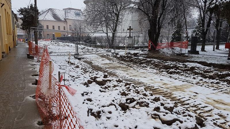 Preostalo još mnogo posla u centralnoj bečejskoj ulici | Foto: Bojan Pejović