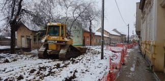 Mehanizacija i sneg u Dositejevoj   Foto: Bojan Pejović