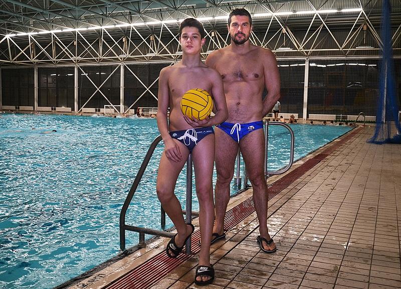 U istom timu otac i sin - Goran i Nikola Krstonošić   Foto: Vojin Reljin