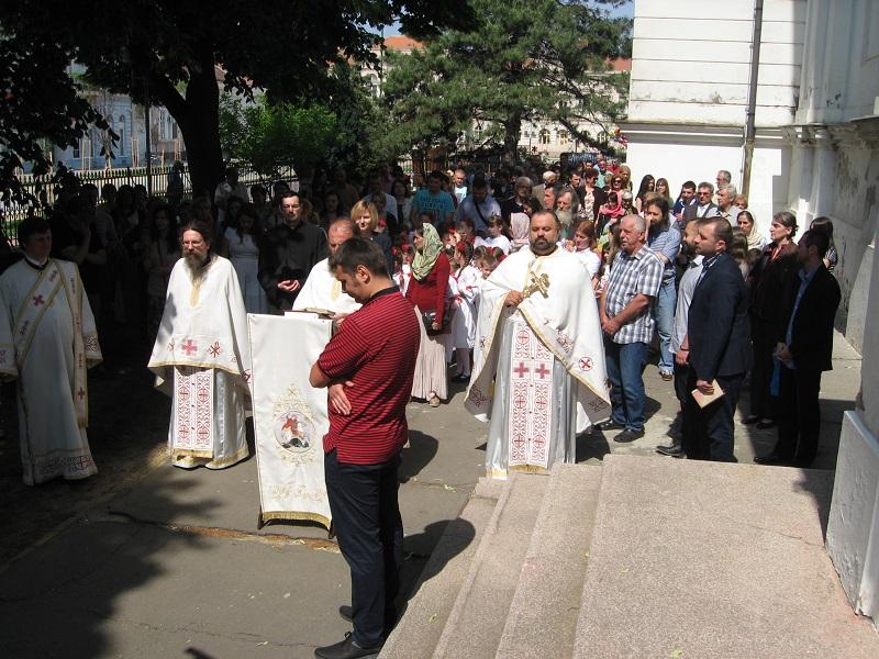 Đurđevdansko slavlje u Bečeju okupilo je zavidan broj vernika | Foto: Vlastimir Jankov