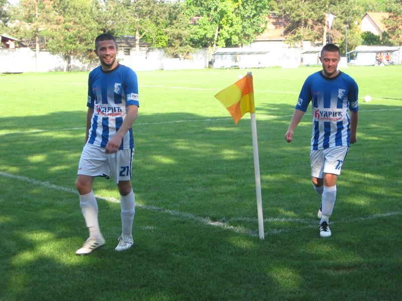 Igrači Vojvodine Dimitrije Vejin i Mihajlo Mihajlović   Foto: Vlastimir Jankov