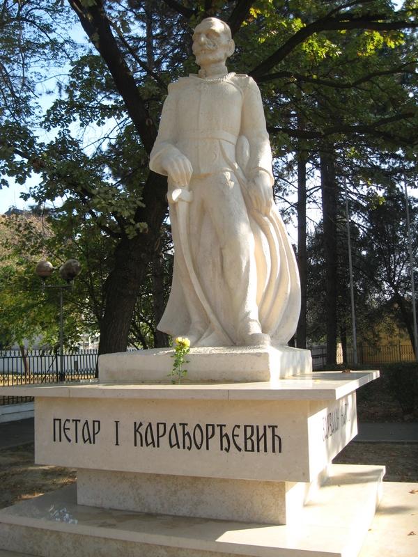 Spomenik Kralju Petru sa strukom žute ruže | Foto: Vlastimir Jankov