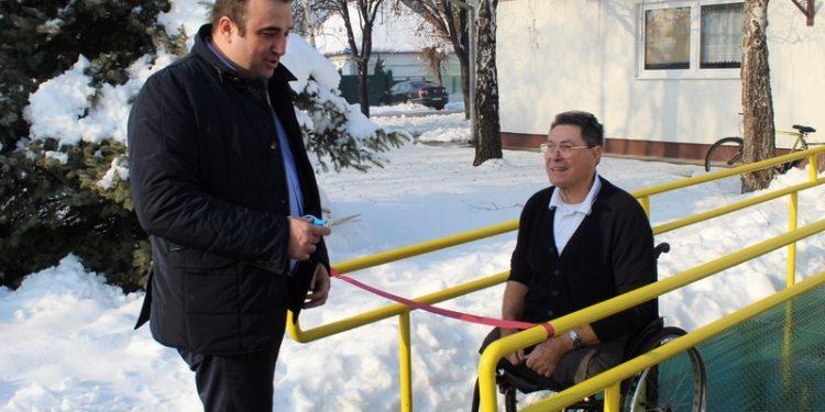 Dragan Tošić i Stevan Markov prilikom puštanja rampe u funkciju | Foto: Vlastimir Jankov