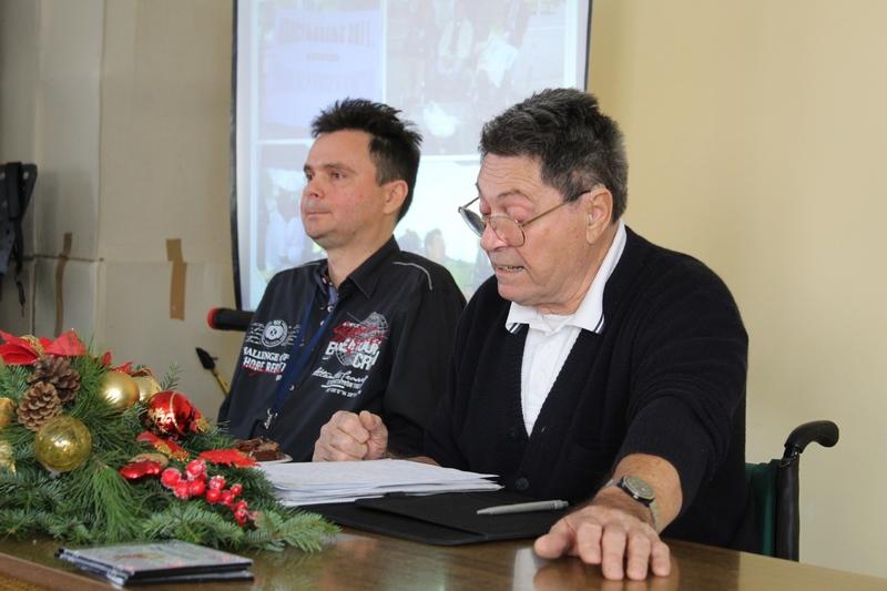 Predsednik Stevam Markov i sekretar Šandor Pastor na skupštini