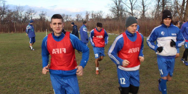 Dražić, Mirkov i Radić u prvom planu na treningu   Foto: Vlastimir Jankov