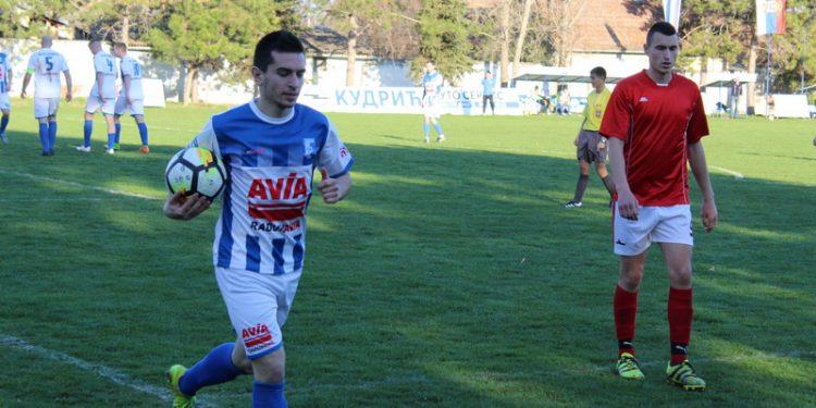 Aleksandar Marjanov je postigao tri gola u Novom Kneževcu   Foto: Vlastimir Jankov