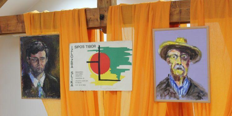 Plakat prve samostalne izložbe i dva autoportreta Tibora Šipoša | V. Jankov