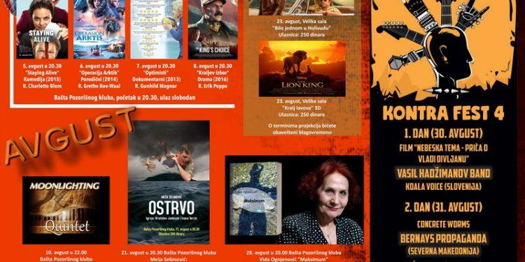 Plakat programa u avgustu