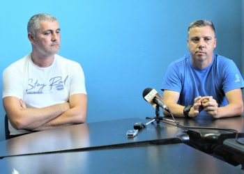 Sportski direktor Bečejaca Miloš Andrić i trener Milan Belić