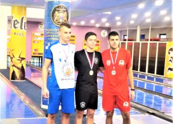 Trojica prvoplasiranih na kadetskom državnom prvenstvu u kuglanju