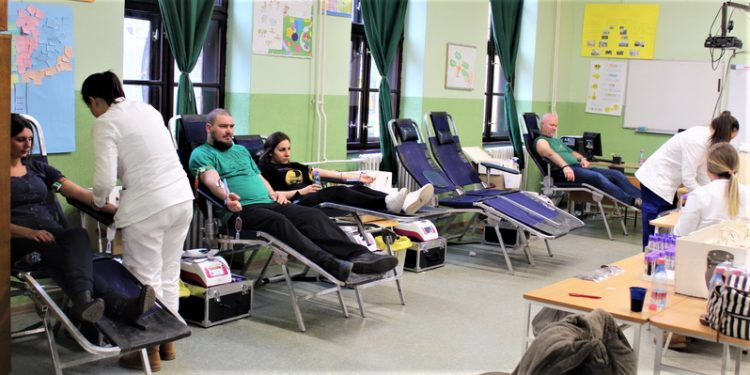 Sa prve ovogodišnje akcije dobrovoljnog davanja krvi u Bečeju