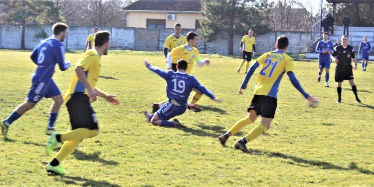 Momenat sa utakmice komšija u Bačkom Gradištu