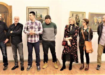 Prisutni autori na svečanom otvaranju izložbe u Bečeju