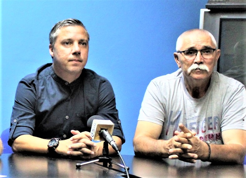 Šef stručnog štaba Milan Belić i potpredsednik srpskoligaša sa Tise Nedeljko Vasić