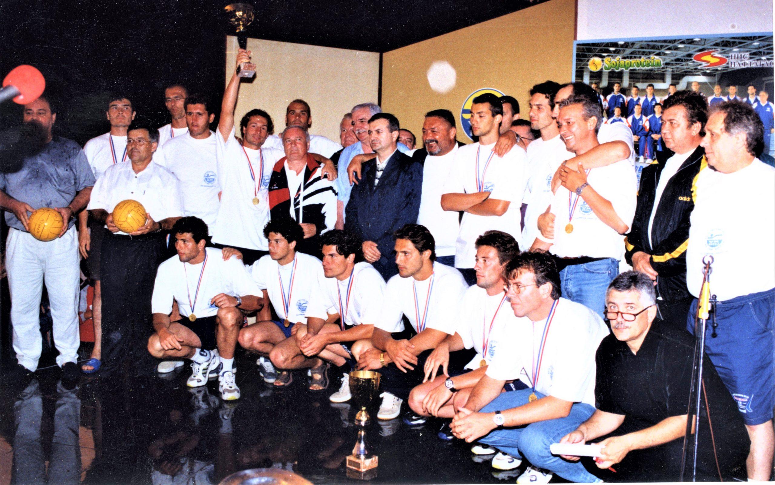 Sa dočeka evropskih vicešampiona 1999. godine na Pogači