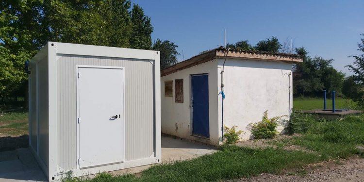 Pomoćni objekat postrojenja za dezinfekciju pijaće vode u Mileševu | Foto: Opština Bečej