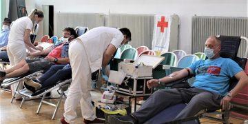 Sa akcije dobrovoljnog davanja krvi u Bečeju | Foto: V. Jankov