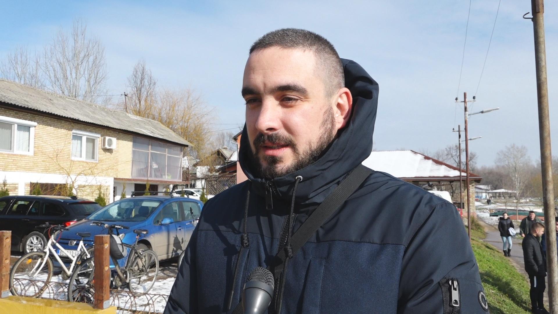 Srbislav Čiplić u poseti sugrađanima