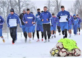 Fudbalere Bečeja je dočekala prava zimska idila
