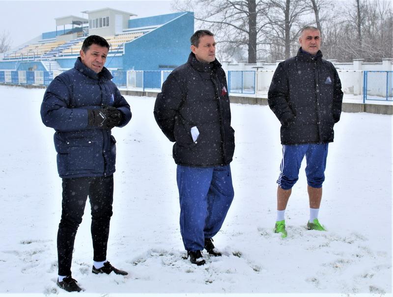 Stručni štab Bečejaca Dalibor Novčić, Branko Savić i Miloš Andrić