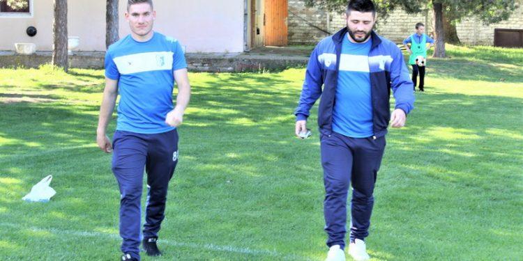 Trener Vojvodine Lazar Dabižljević i povratnik u tim Dimitrije Ilić