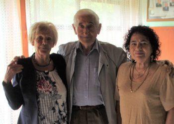 Miodrag Mića Hadnađev sa Marijom Šijačić i predsednicom OUP Bečej Nadom Milovanov